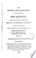 The History and Adventures of the Renowned Don Quixote 2