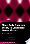 Many Body Quantum Theory in Condensed Matter Physics