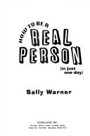 How To Be A Real Person In Just One Day  book