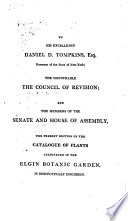 Hortus Elginensis: Or Catalogue of Plants Indigenous and Exotic, Cultivated in the Elgin Botanic Garden in the Vicinity of the City of New York, Established in 1801