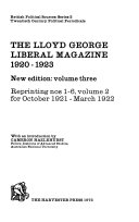 the lloyd george liberal magazine 1920 1923