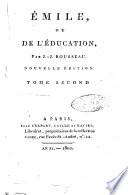 Emile  ou de l education  par J  J  Rousseau  Tome primier  cinquieme