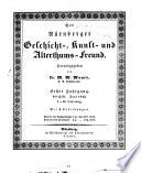 Der Nürnberger Geschicht-, Kunst- und Alterthumsfreund