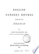 English nursery rhymes translated into French