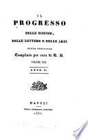 Il Progresso delle scienza, lettere ed arti