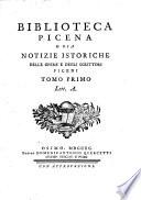 Biblioteca picena o sia notizie istoriche delle opere e degli scrittori piceni  Tomo primo   quinto