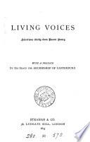Living Voices Book PDF