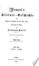 Piemont's Militair-Geschichte vom Frieden von Aachen bis auf unsere Tage