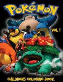 Pokemon Children s Coloring Book Vol 1