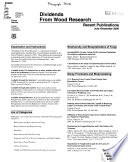 Dividends From Wood Research