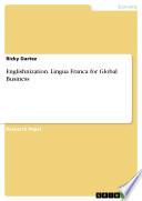 Englishnization  Lingua Franca for Global Business