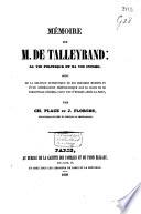 Mémoire sur Mr. de Talleyrand