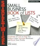 Streetwise Small Business Book Of Lists