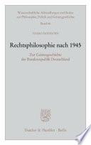 Rechtsphilosophie nach 1945