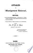 Annales de l enseignement universel
