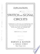 Explanations of Switch and Signal Circuits Book PDF