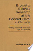 Browsing Branch Research at the Federal Level in Canada
