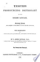 Webster s Pronouncing Dictionary of the English Language