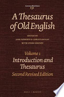 A Thesaurus of Old English: Introduction and thesaurus