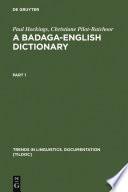 A Badaga-English Dictionary