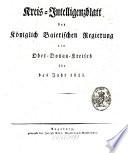 Königlich Bayersches Intelligenz-Blatt für den Ober-Donau-Kreis