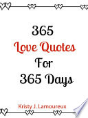 365 Love Quotes For 365 Days