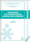 Translation for communications  language and literature
