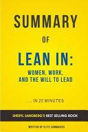 lean in by sheryl sandberg summary analysis