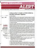 Legal Information Alert