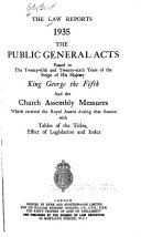 The Public General Acts     and the Church Assembly Measures Book PDF