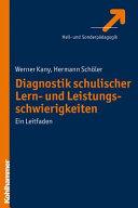 Diagnostik schulischer Lern  und Leistungsschwierigkeiten