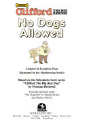 Clifford the Big Red Dog: No Dogs Allowed