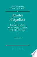 Paroles d'Apollon