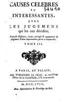 Causes célèbres et intéressantes, avec les jugemens qui les ont décidées, tome 2