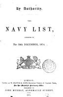 download ebook the navy list, corrected to the 20th december, 1874. pdf epub
