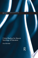 Critical Realism for Marxist Sociology of Education