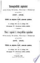 Kronologički i alfabetički našastari k Stenografičkim zapisnicima Sabora Kraljevina Hrvatske, Slavonije i Dalmacije