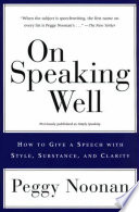 On Speaking Well