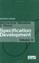 Mechanical Vibration   Shock  Specification development