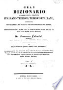 Gran dizionario grammatico pratico italiano tedesco  tedesco italiano
