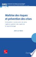 Maîtrise des risques et prévention des crises