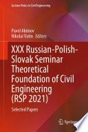 Xxx Russian Polish Slovak Seminar Theoretical Foundation Of Civil Engineering Rsp 2021
