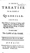 Book A Short Treatise on the Game of Quadrille, etc