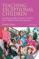 Teaching Exceptional Children