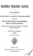 Bibliotheca philologica classica