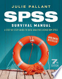 Spss Survival Manual A Step By Step Guide To Data Analysis Using Ibm Spss