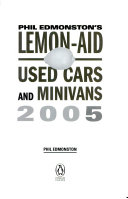 Lemon Aid Guide 2005 Used Cars and Minivans