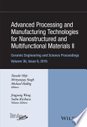 Advanced Processing and Manufacturing Technologies for Nanostructured and Multifunctional Materials II