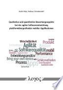 Qualitative Und Quantitative Bewertungsaspekte Bei Der Agilen Softwareentwicklung Plattform Bergreifender Mobiler Applikationen