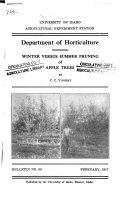 Winter versus summer pruning of apple trees